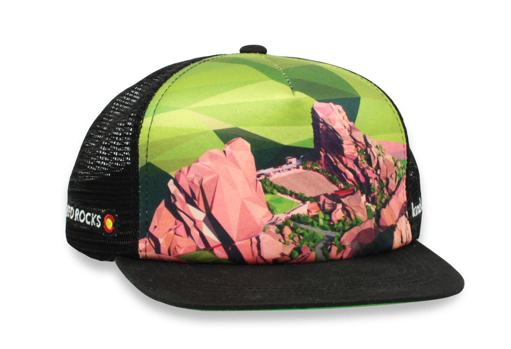 Red Rocks Polyrado Trucker Cap