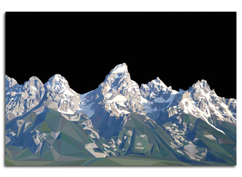 THE TETONS / METAL PRINT