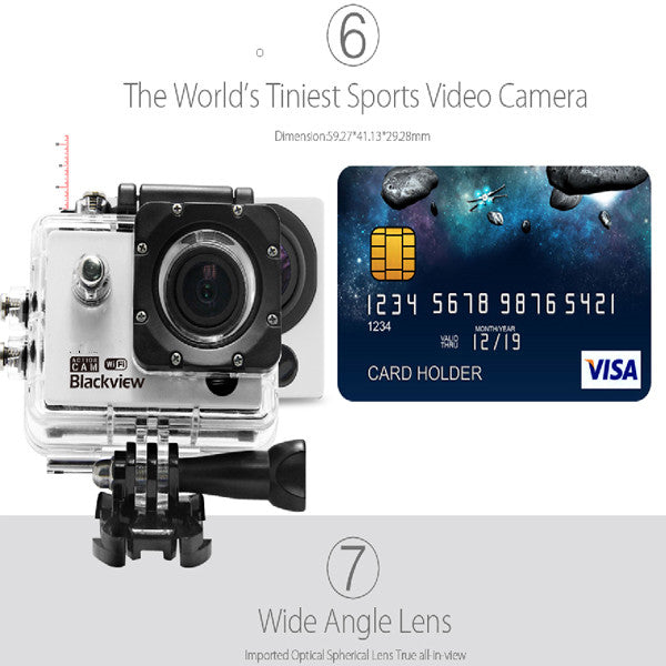 Blackview Hero 1 WIFI 2 inch Screen AMB A7LS75 Chipset Sports Camera