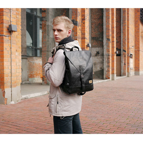 Unisex PU Leather Shoulder Bag Backpack