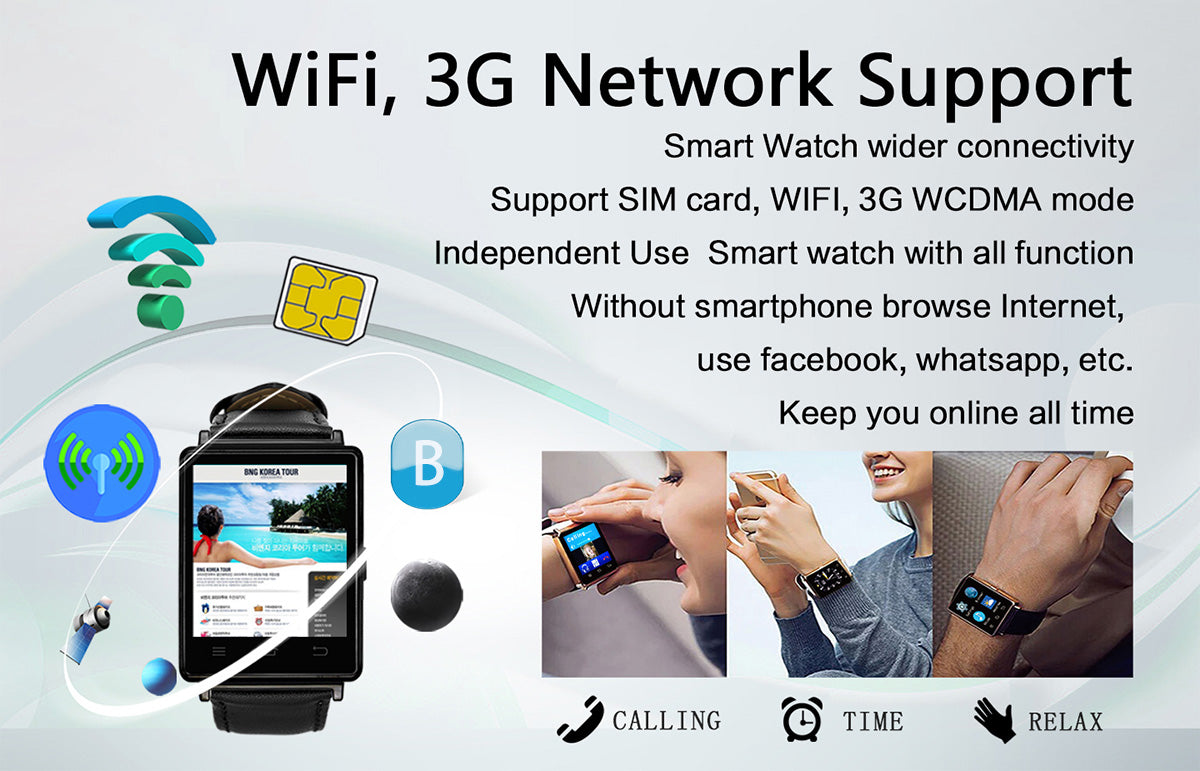 NO.1 D6 3G Android 5.1 3G WiFi SmartWatch