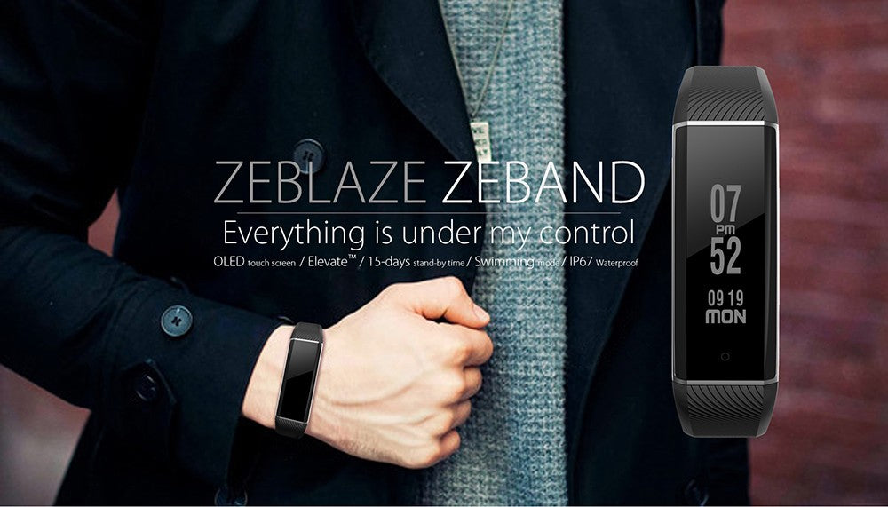 Zeblaze ZeBand Bluetooth 4.0 Heart Rate Monitor Smart Wristband