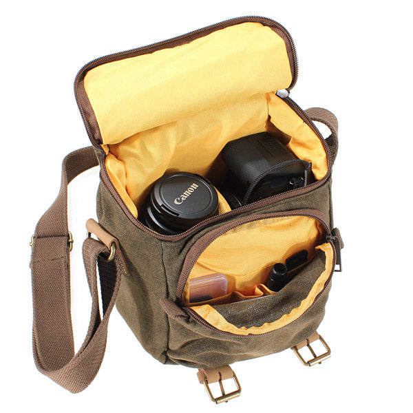 Caden Canvas DSLR SLR Camera Shoulder Case Bag