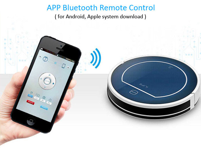 ILIFE V7 Smart Robot Vacuum Cleaner, Bluetooth Control - BLUE