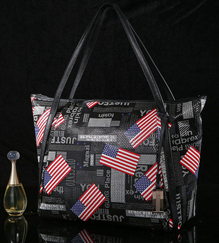 'American Dream' Genuine Leather Handbag