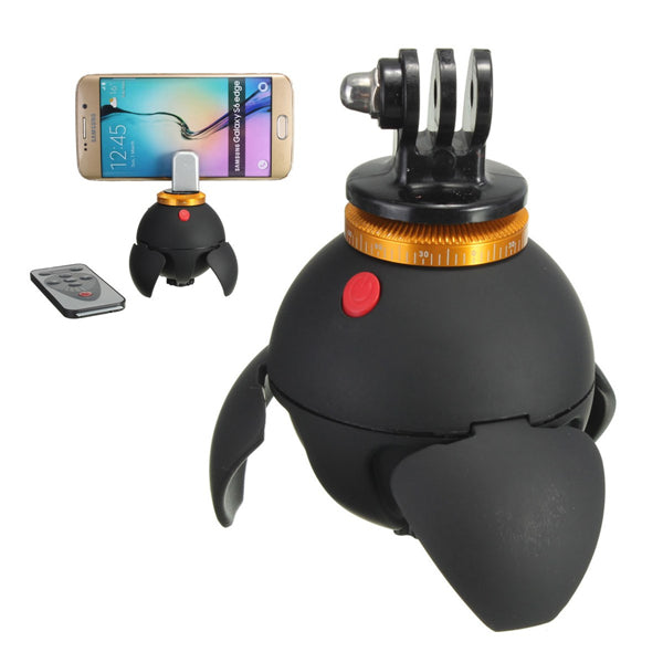 Bluetooth Panorama EyeBall Head Stand 360 Degree Rotation With Remote Control