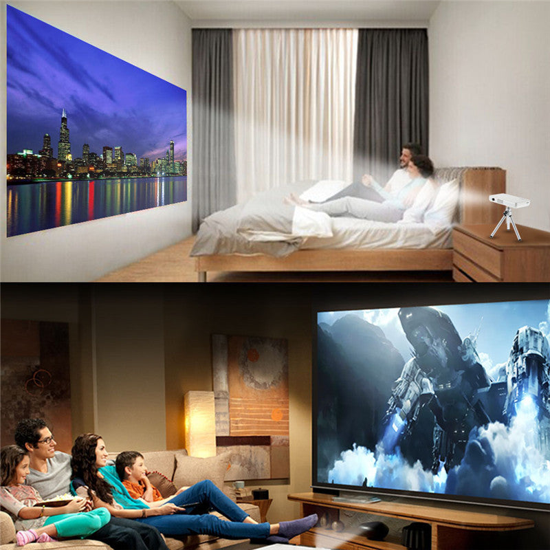 GP1S DLP 1080P HD  Home Cinema LED Portable Projector HDMI USB AV SD