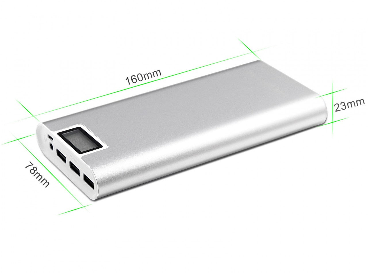 3 USB Ports Portable 20000mAh Power Bank External Battery