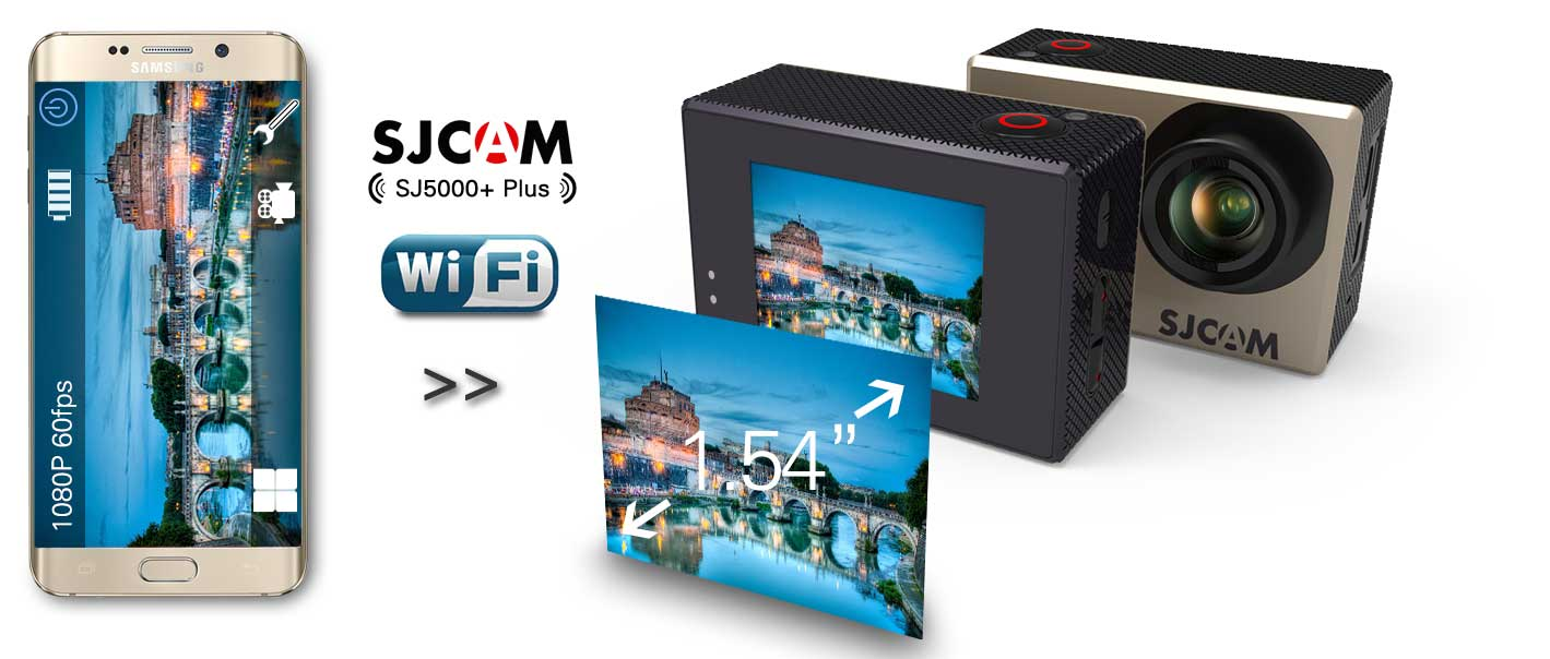 SJcam SJ5000+ Plus Ambarella 1.54 Inch LCD Action Camera