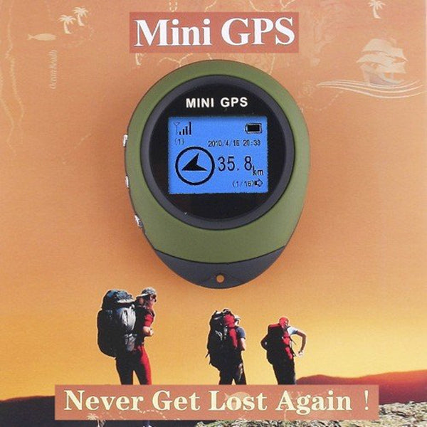 Mini GPS Receiver + Location Finder with Display Screen and Keychain