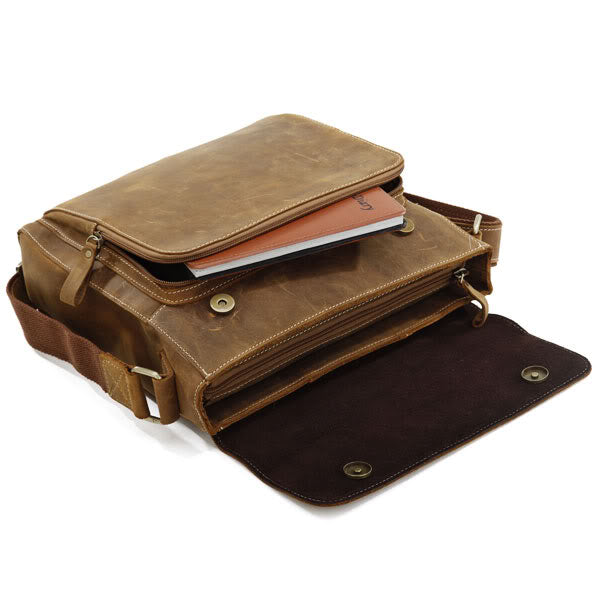 Wild West' Small Leather Messenger Bag