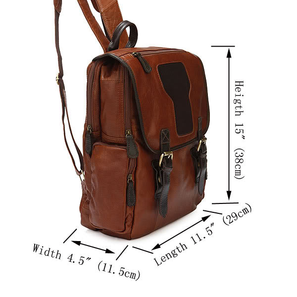 'Cusco' Leather Backpack