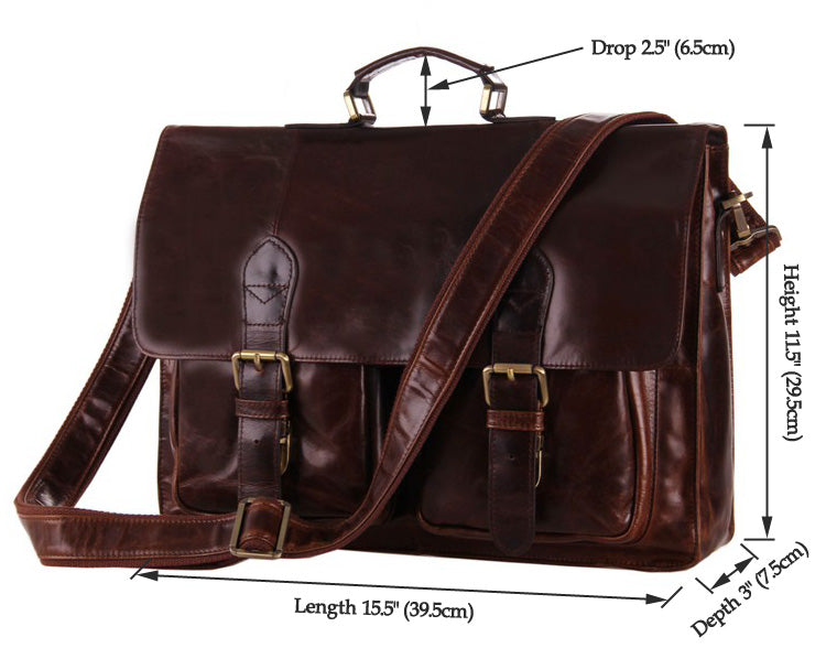 'Napoli' Leather Business Briefcase