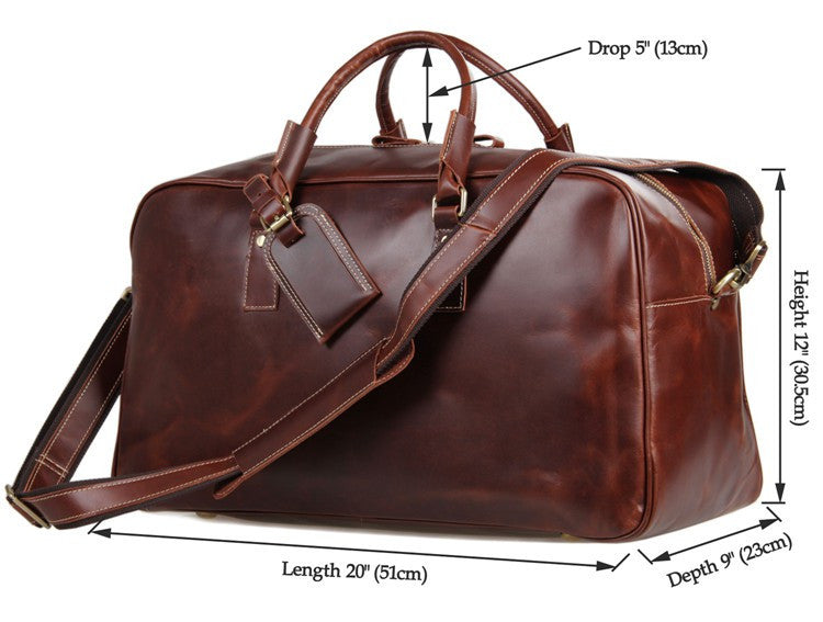 'Andy' Genuine Leather Travel Bag