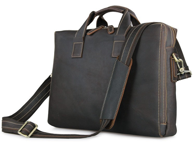 Buckingham Dark Brown Leather Briefcase
