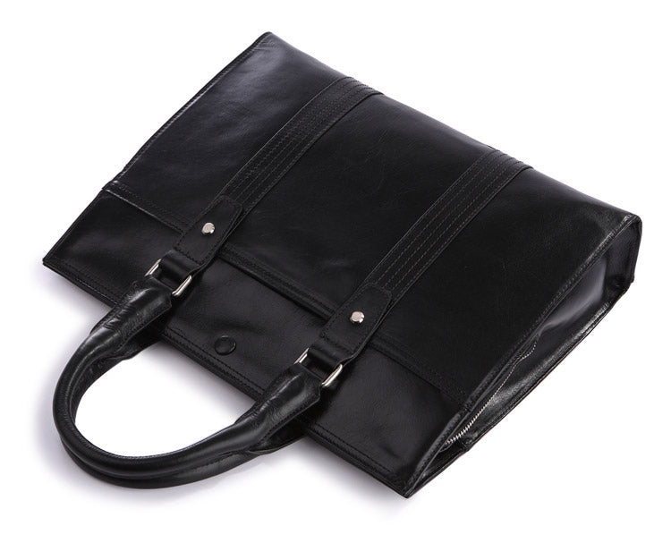 'Pall Mall' Black Leather Business Bag