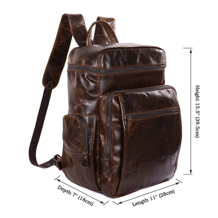 'Albert' Leather Backpack