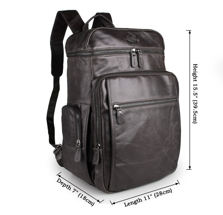 'Alaric' Leather Backpack