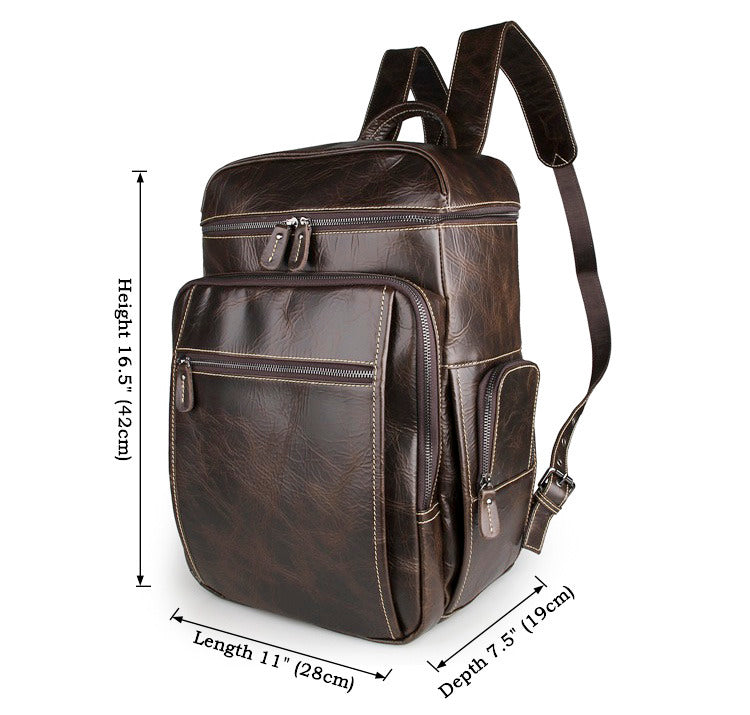 'Noah' Leather Backpack