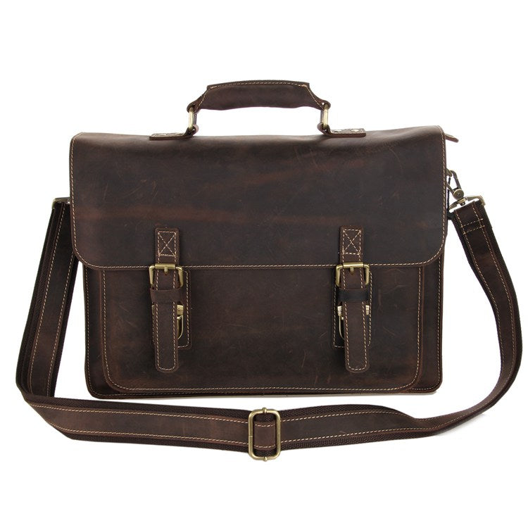 'Parker' Leather Briefcase
