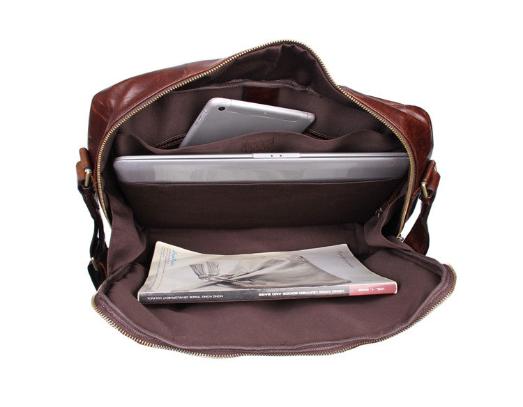 Warwick Genuine Leather Handmade Messenger Bag Tote