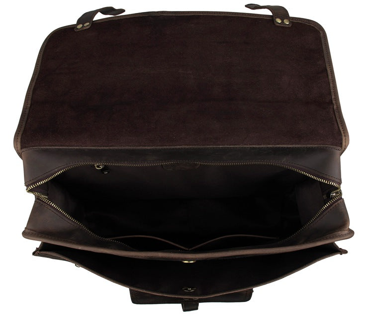 Selvaggio Vintage Full Grain Leather Briefcase