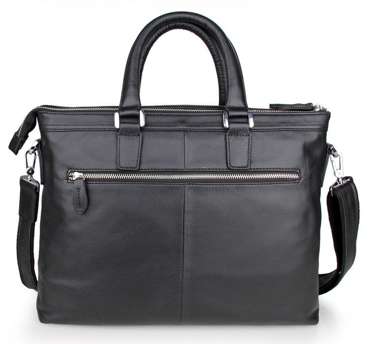'Belgravia' Grained - Leather Double Zip Portfolio Briefcase