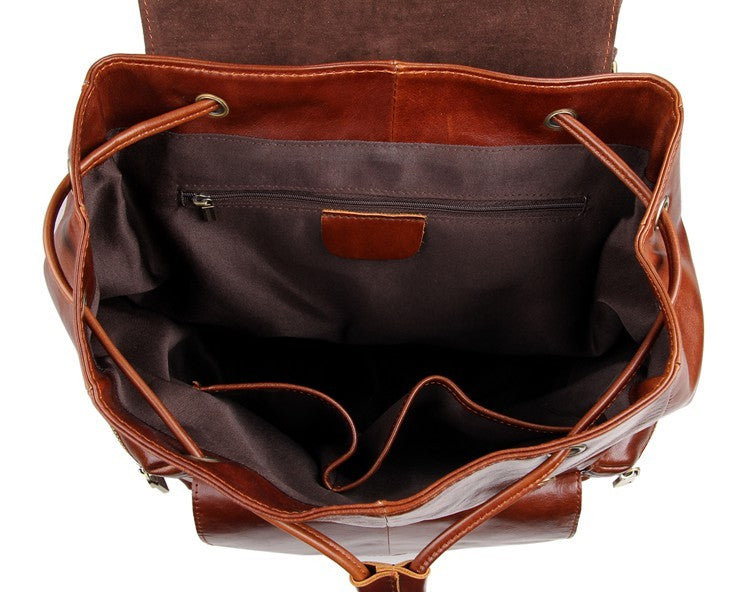 'Mulier' Casual Leather Women Backpack