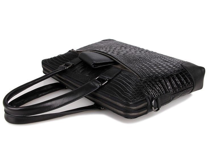 Mayfair Black Deep Embossed Croc Print
