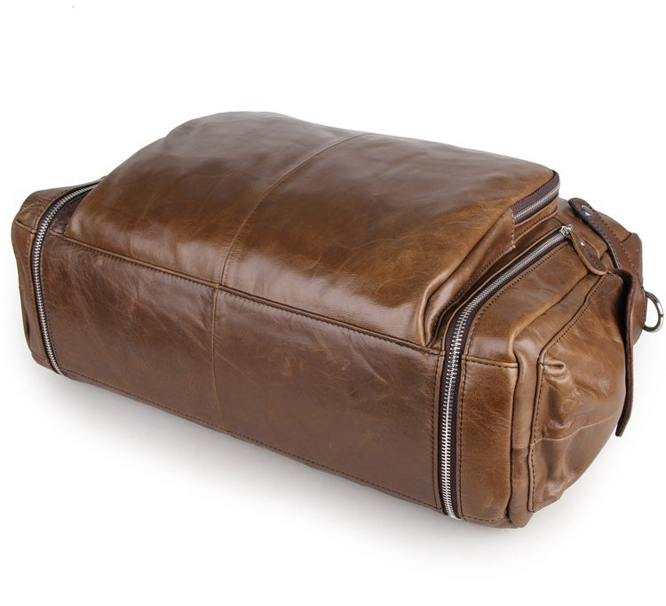 Leather Business Briefcase Messenger Laptop Bag