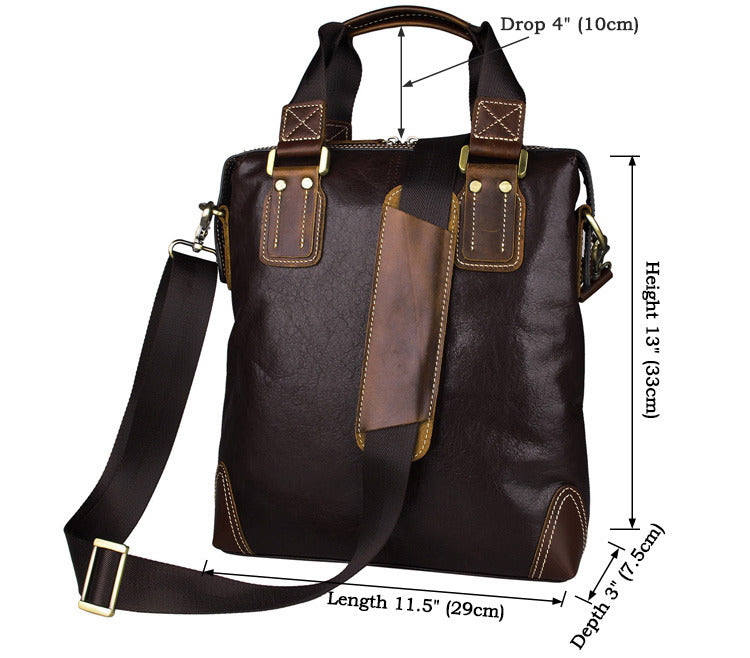 Small Genuine Leather Shoulder Bag Messenger Bag