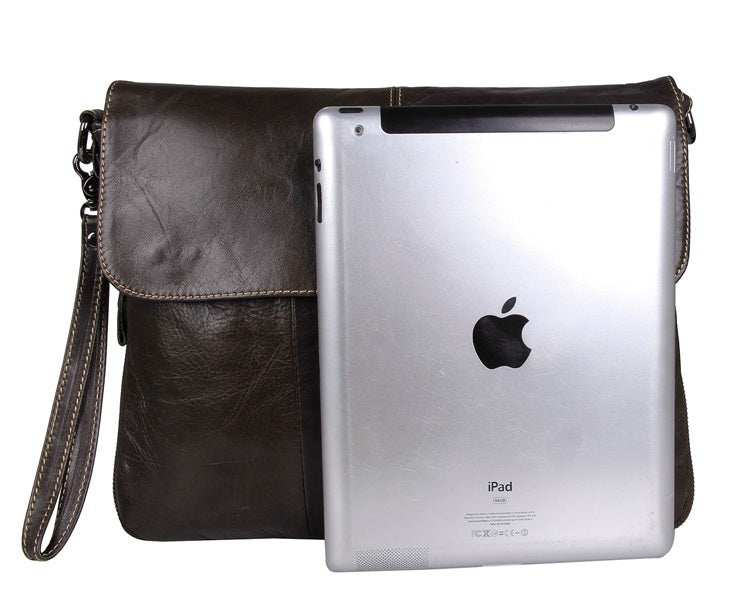 Leather iPad Messenger Bag