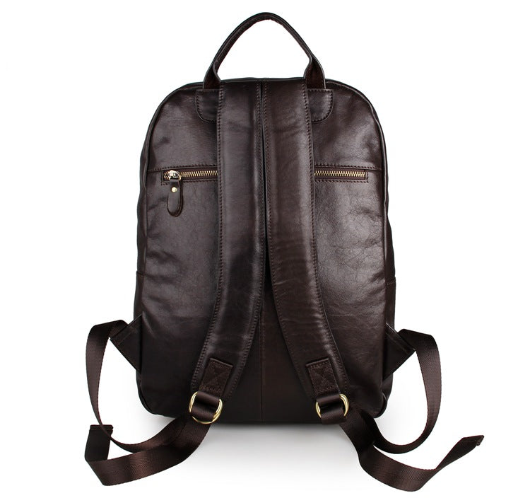 Large Capacity Leather Travel Backpack