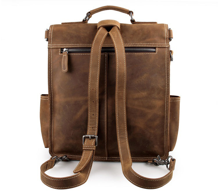 The Ultimate Leather Backpack Messenger Bag Satchel