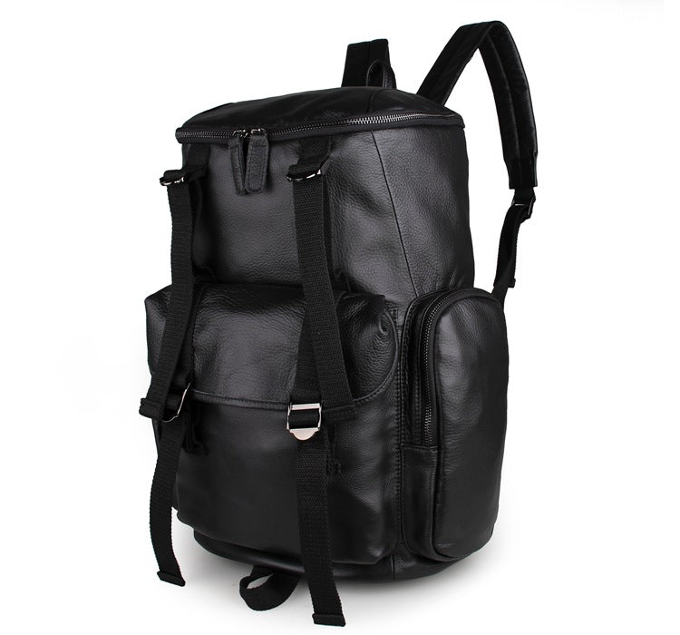 'MontBlanc' Large Unisex Leather Backpack