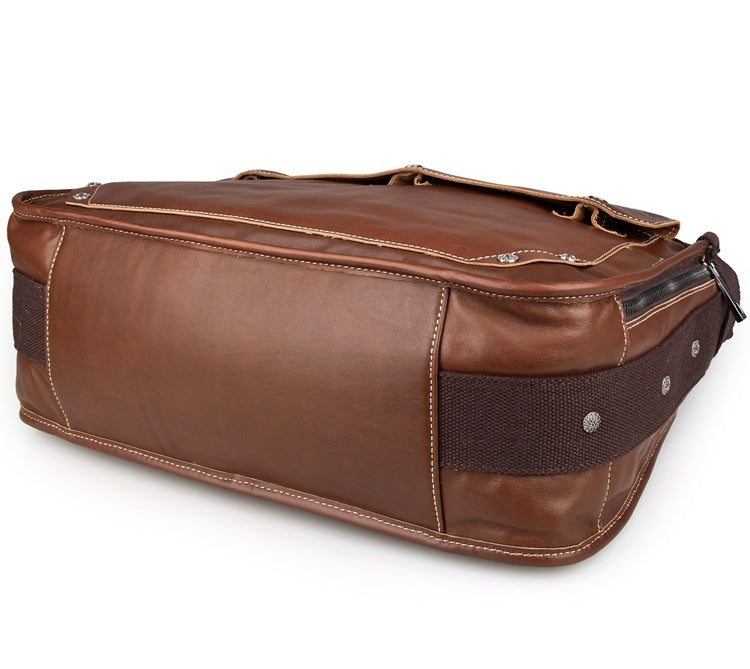Artisan Leather Messenger Bag - Brown