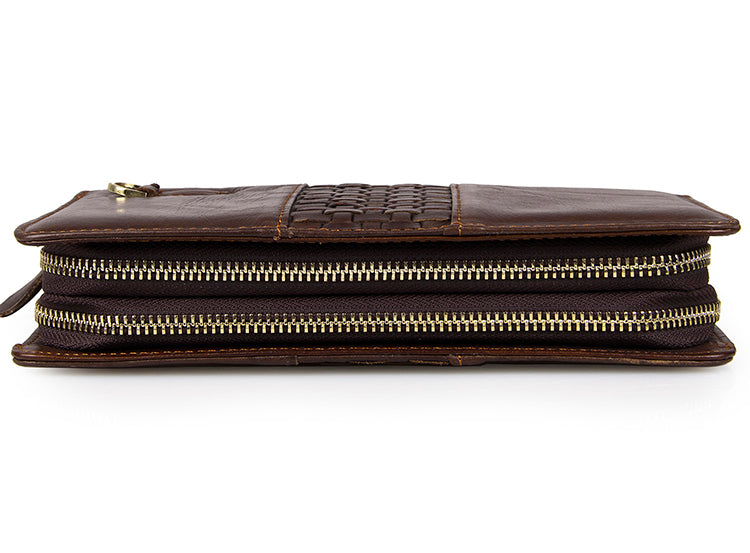 'Moscow ' Classic Genuine Leather Clutch