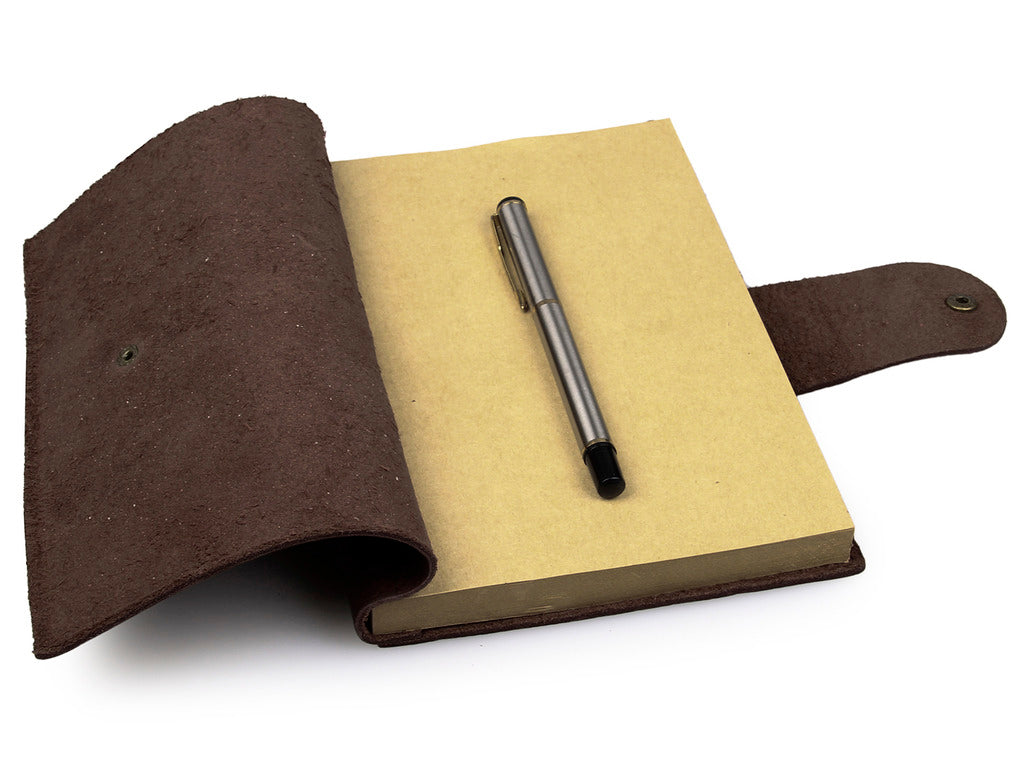 Refillable Antique Brown Full Grain Italian Leather Journal