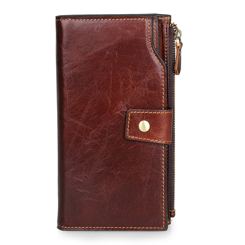Leather Travel Long Unisex Wallet