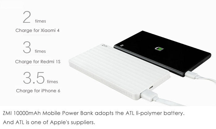 Xiaomi ZMI 10000mAh Power Bank Quick Charge