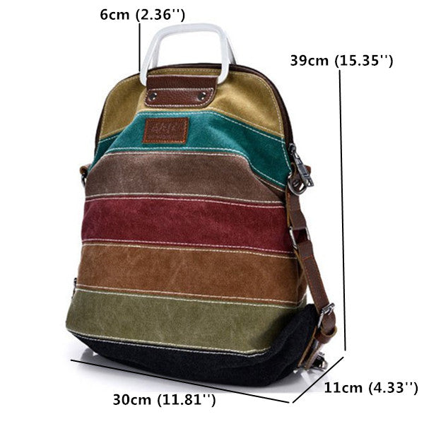 Canvas Shoulder Bag Handbag Backpack