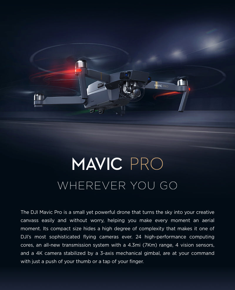 DJI Mavic Pro OcuSync 4K Folding Camera Drone