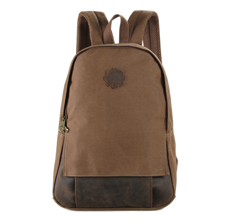 Universal London Canvas and Leather Backpack - Brown