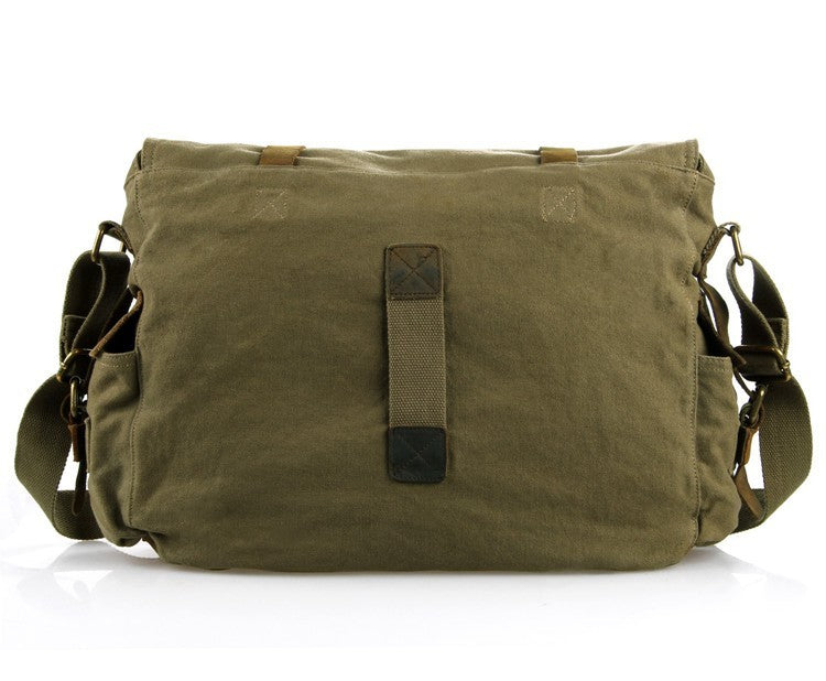 Army Green Military Style Messenger Bag