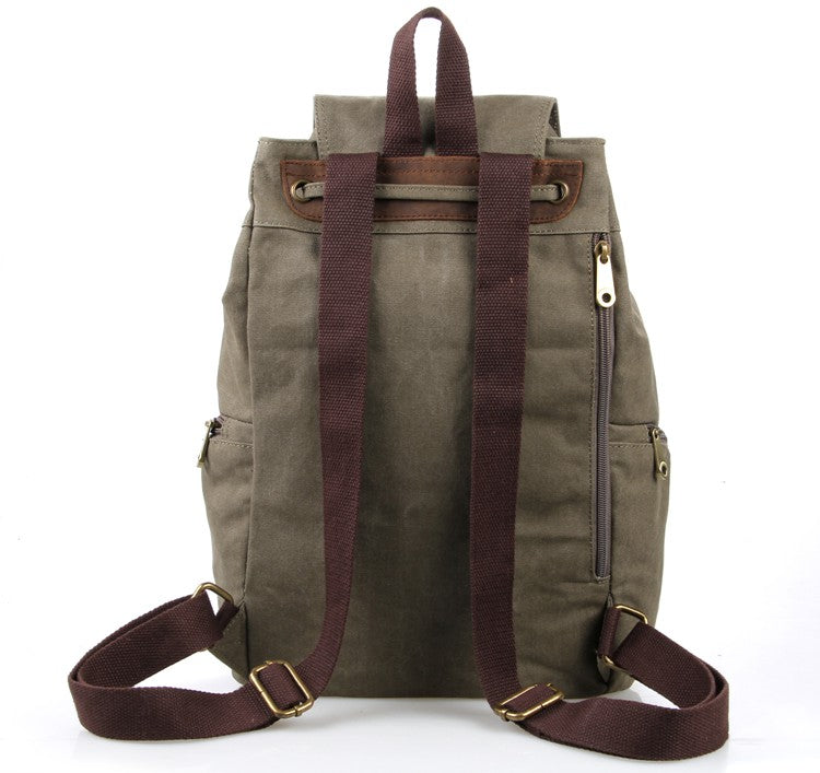 """Hollywood"" Classic Canvas and Leather Backpack"
