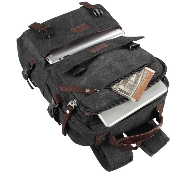 Urban Commuter Canvas Laptop Backpack