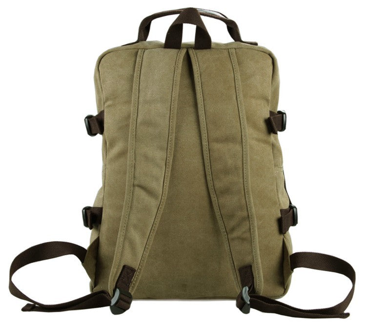 Urban Commuter Canvas Laptop Backpack - Washed Green