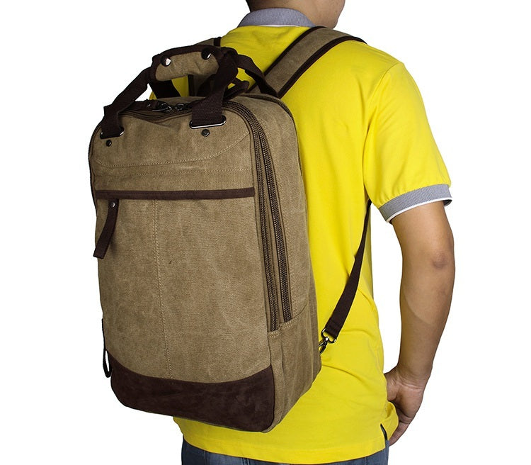 Horsford Large Cotton Canvas Backpack - Light Green