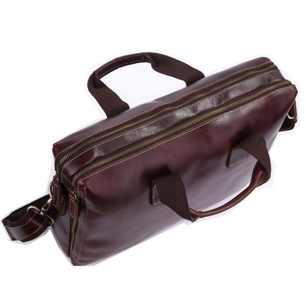 Grosvenor Street Small Real Leather  Business Bag