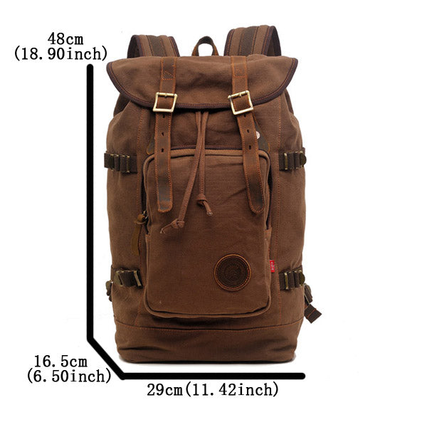 Canvas Travel Hiking Rucksack Backpack
